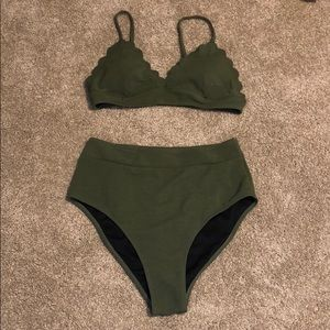 CUPSHE High Waisted Bathing Suit